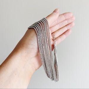 ALDO Silver Rhinestone Choker Necklace